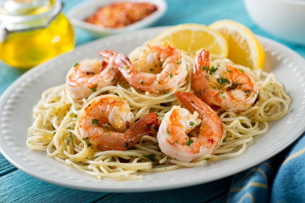 Shrimp Scampi Lemon Pepper Linguini