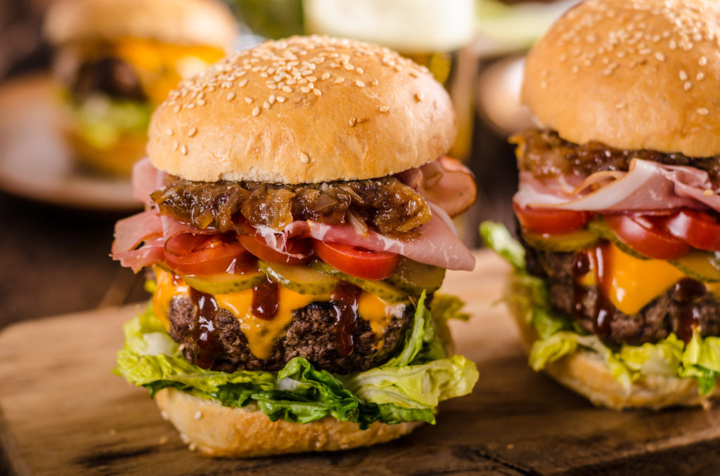 Chipotle Burger with Caramelized Onions